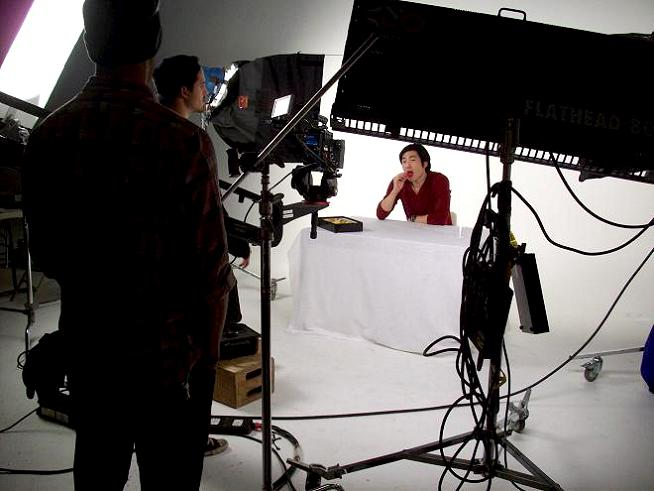 behind the scenes Food commercial modeling june top model