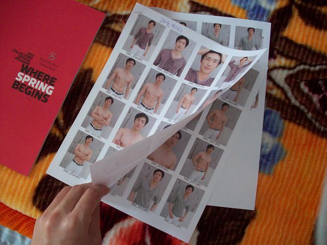 photosheet of digitals modeling