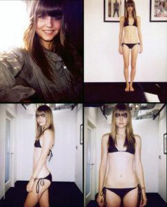 modeling digitals polaroids