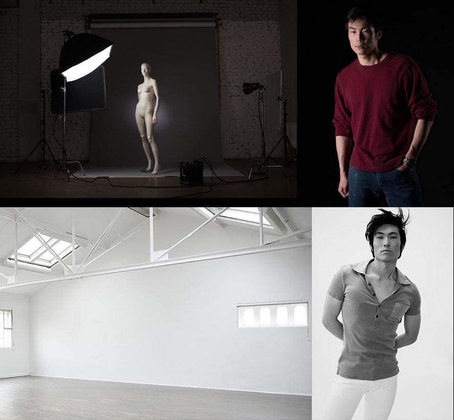 studio shoot example breaking into modeling model life