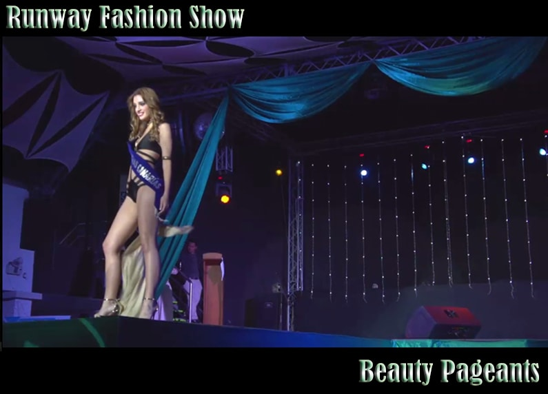 Beauty Pageant runway fashion show